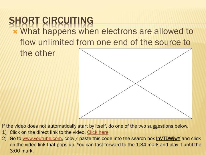 What happens when electrons are allowed to flow unlimited from one end of the source to the other
