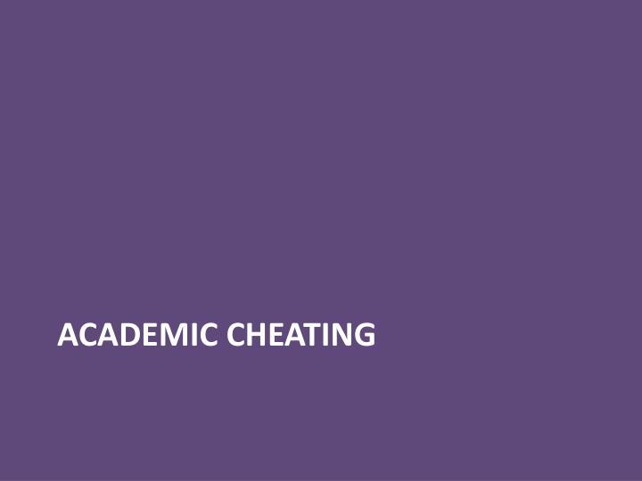 Academic cheating
