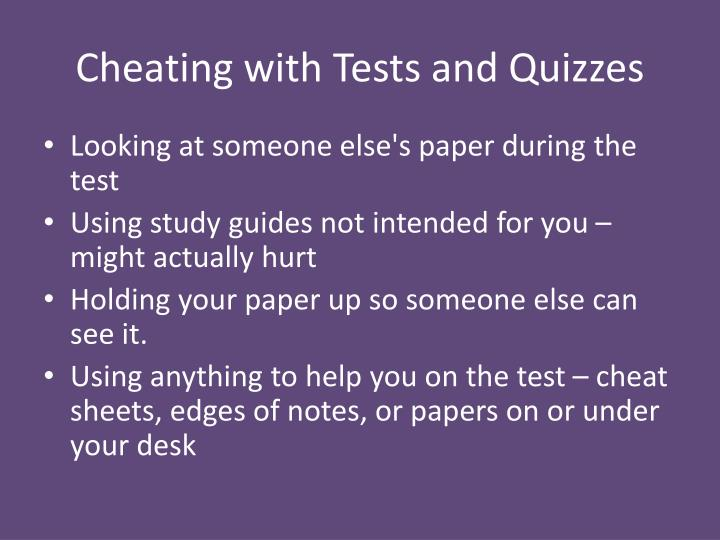 Cheating with Tests and Quizzes