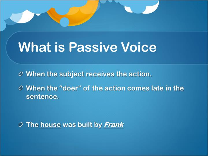 What is Passive Voice
