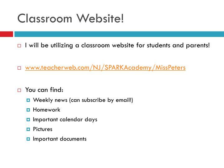 Classroom Website!