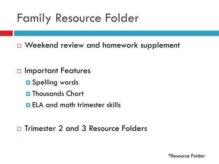 Family Resource Folder