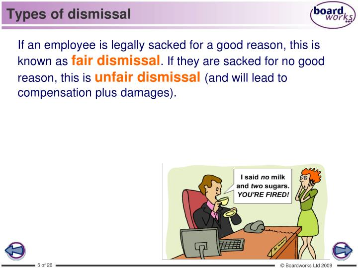 Types of dismissal