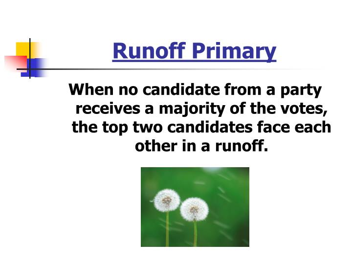 Runoff Primary
