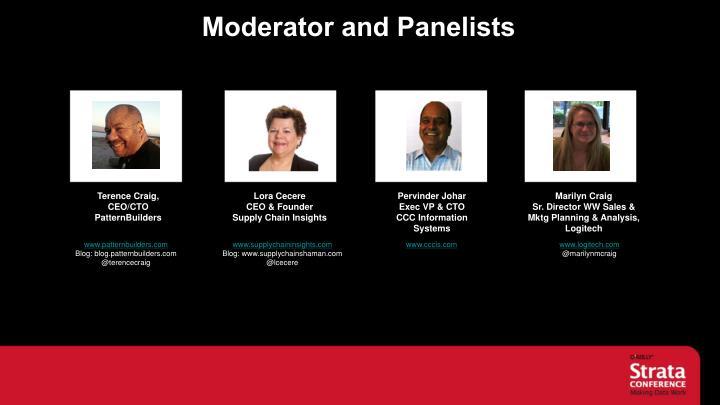 Moderator and Panelists