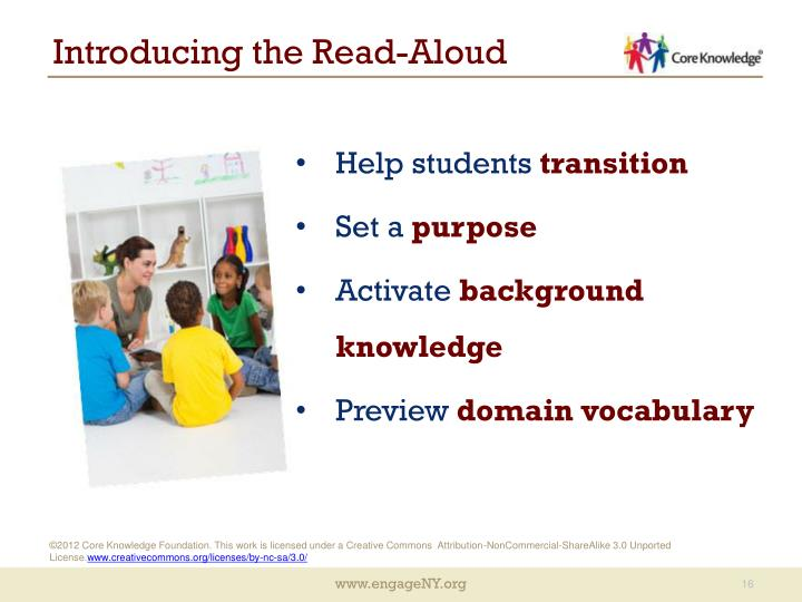 Introducing the Read-Aloud