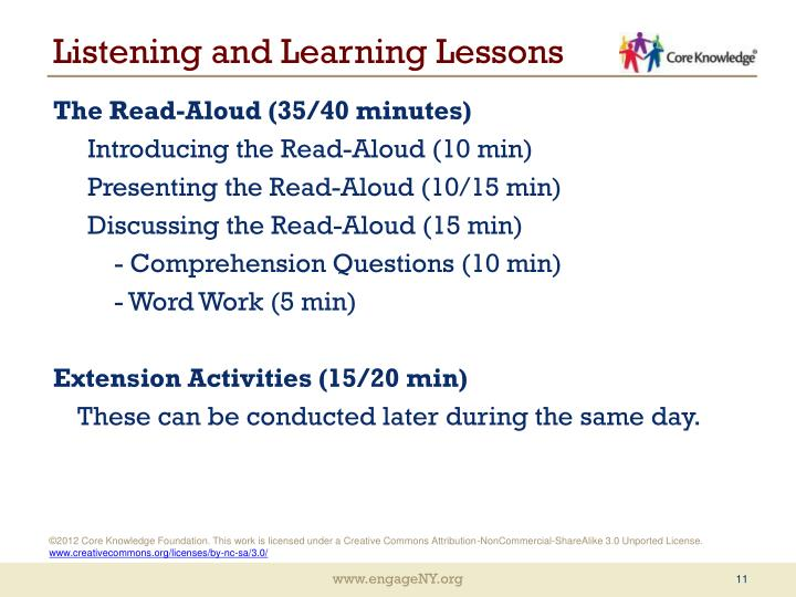 Listening and Learning Lessons