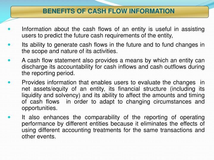 BENEFITS OF CASH FLOW INFORMATION