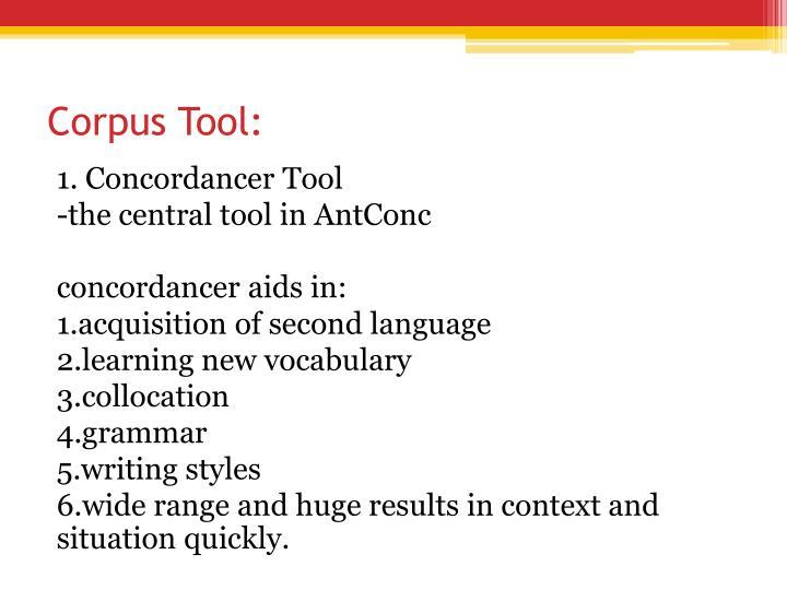 Corpus Tool:
