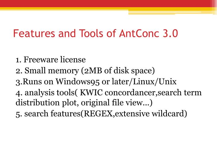 Features and Tools of