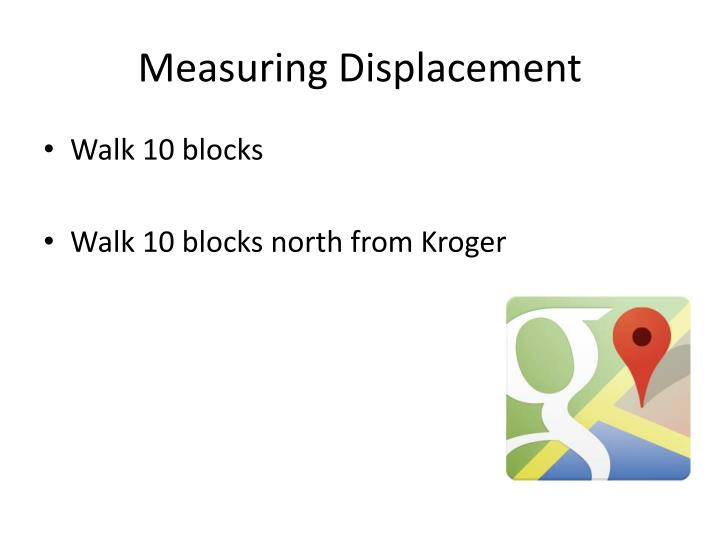 Measuring Displacement