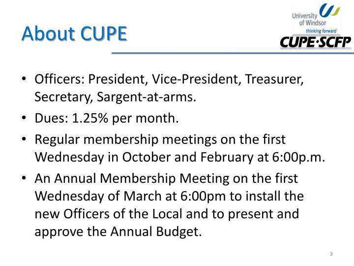About cupe