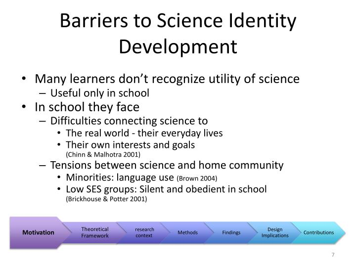 Barriers to Science Identity Development