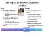 chef impact on scientist discourse candyce