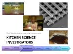 kitchen science investigators