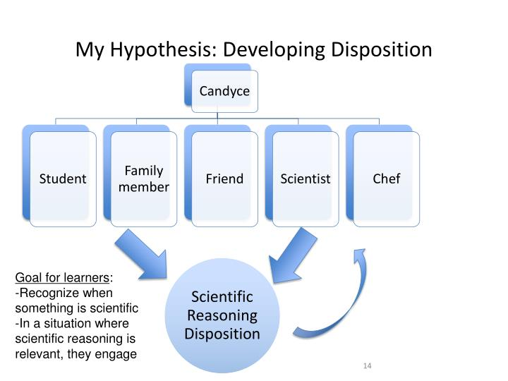 My Hypothesis: Developing Disposition
