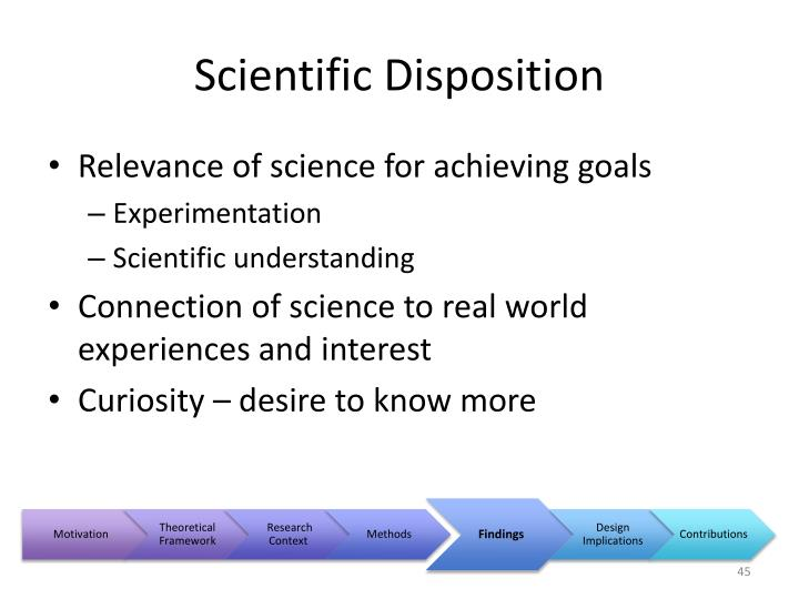 Scientific Disposition