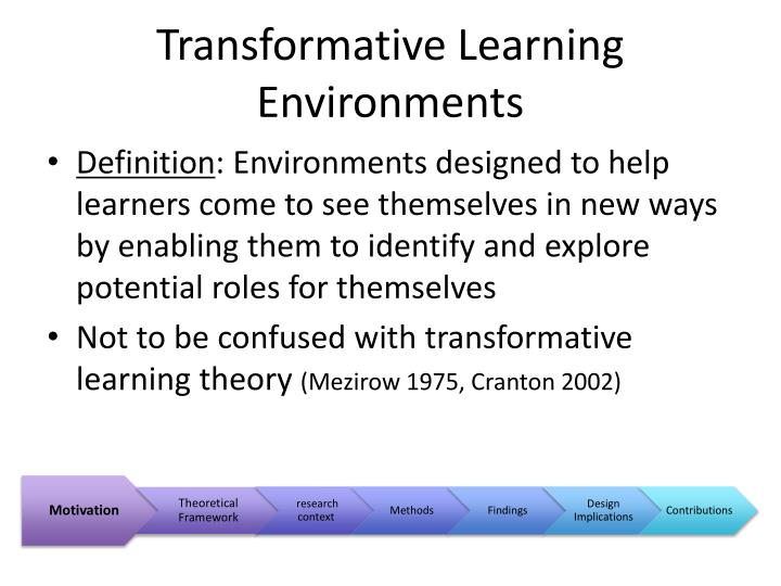 Transformative Learning Environments