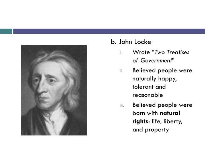 b. John Locke
