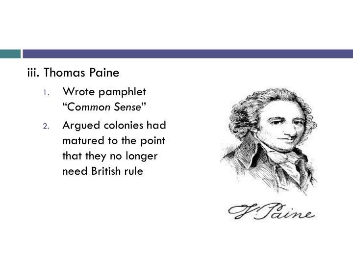iii. Thomas Paine