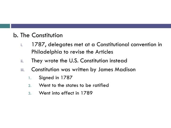 b. The Constitution