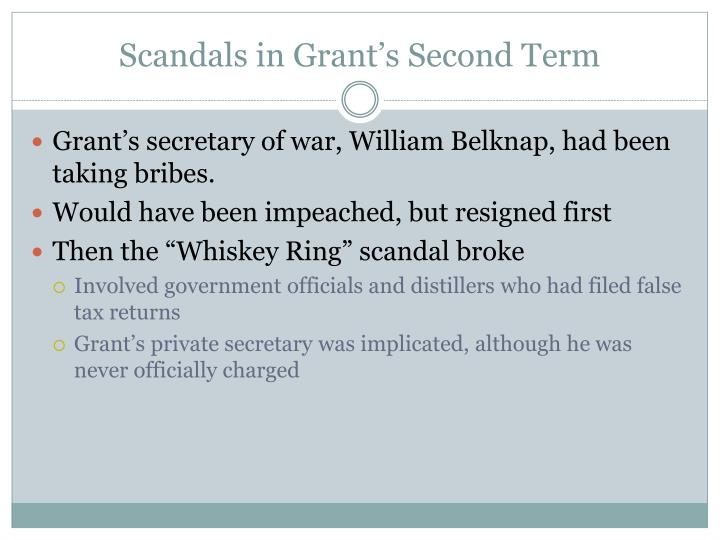 Scandals in Grant's Second Term
