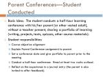 parent conferences student conducted