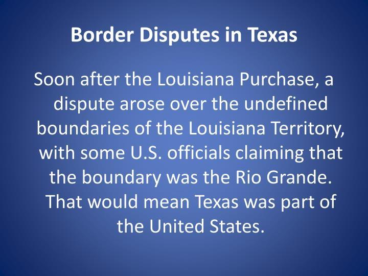 Border Disputes in Texas