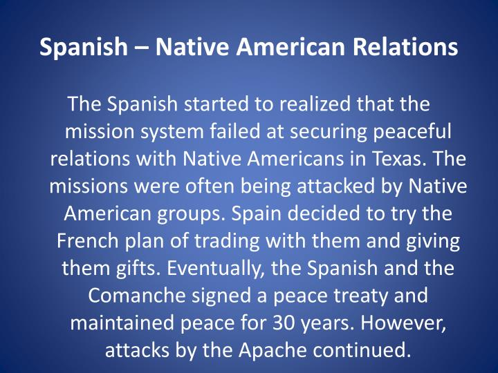 Spanish – Native American Relations