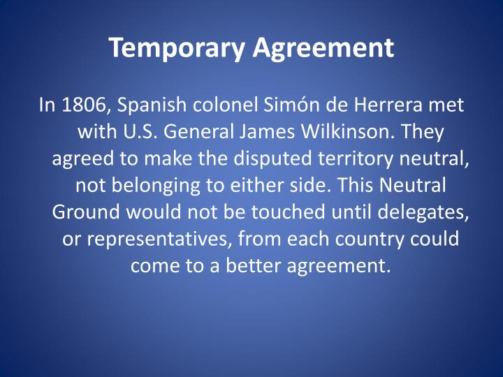 Temporary Agreement