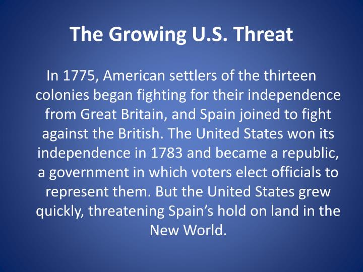 The Growing U.S. Threat