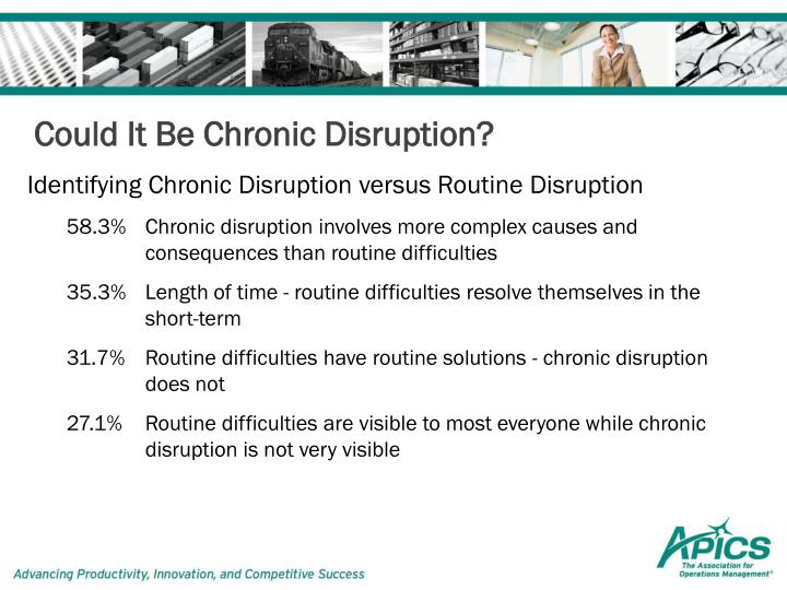 Could It Be Chronic Disruption?