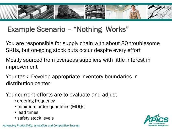 "Example Scenario – ""Nothing  Works"""