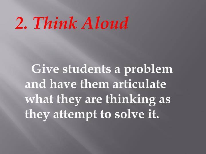 2. Think Aloud