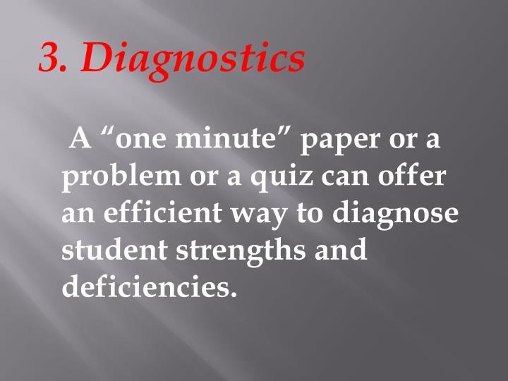 3. Diagnostics