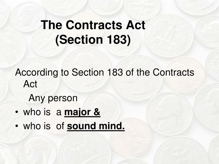 The Contracts Act