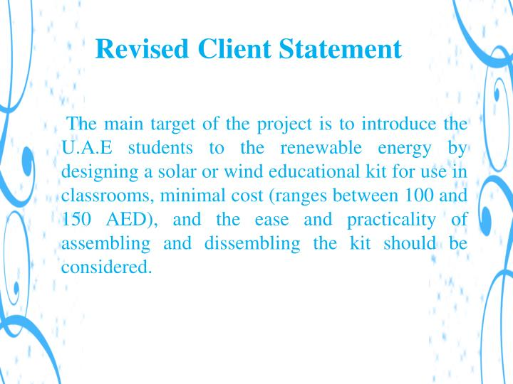 Revised Client Statement