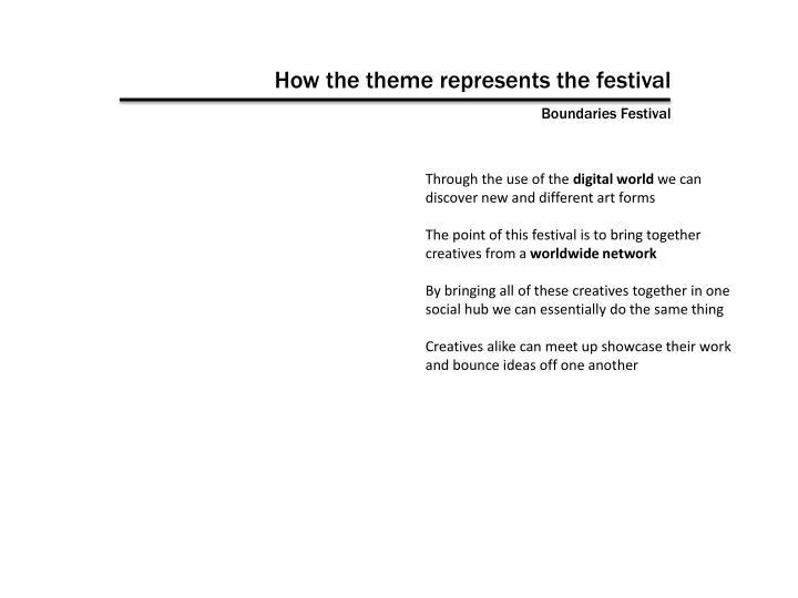 How the theme represents the festival