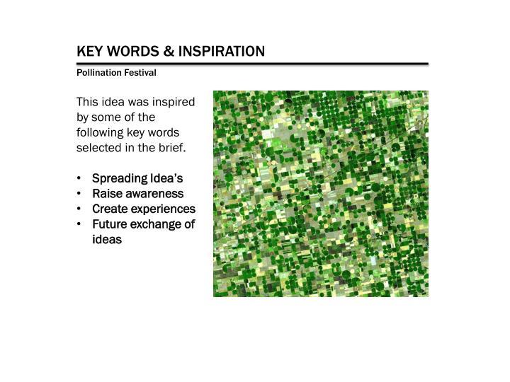 KEY WORDS & INSPIRATION