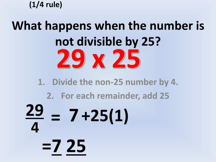 What happens when the number is not divisible by 251