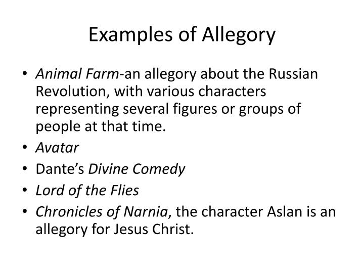 Examples of Allegory