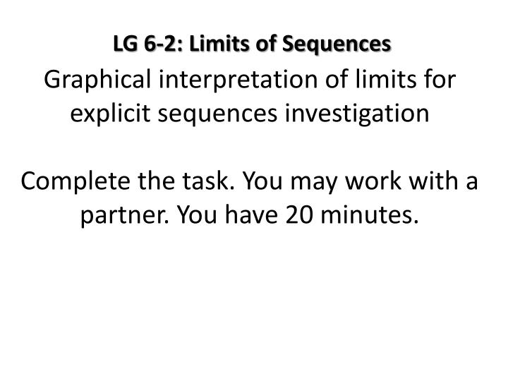 Graphical interpretation of limits for explicit