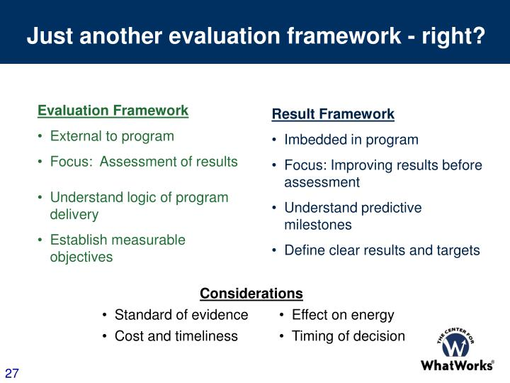 Just another evaluation framework - right?
