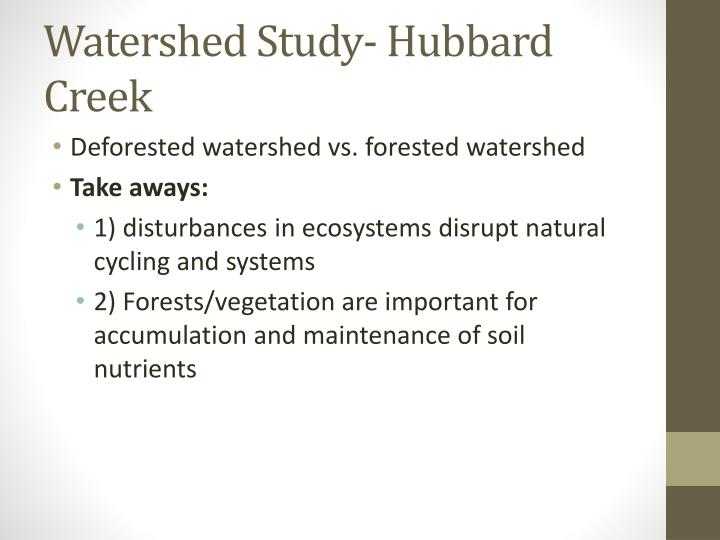 Watershed Study- Hubbard Creek