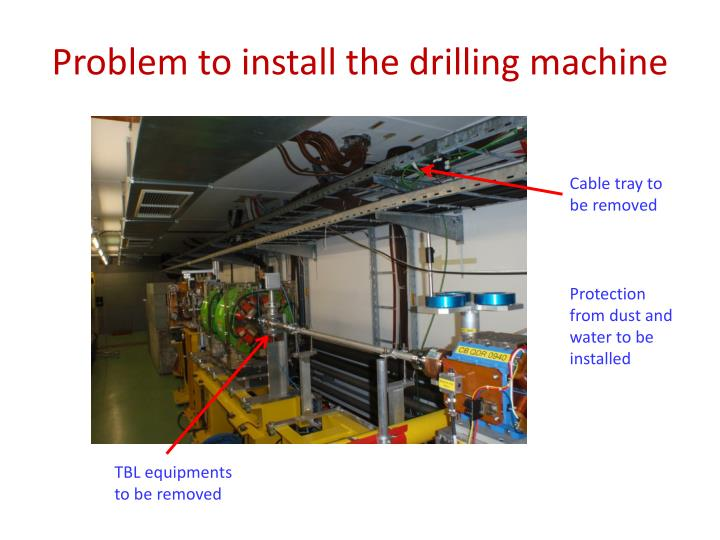 Problem to install the drilling machine