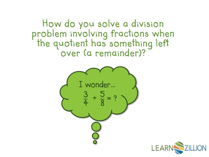 Solving Word Problems With Fractions