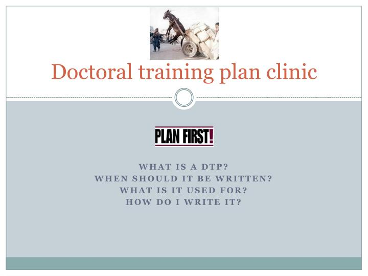 Doctoral training plan clinic
