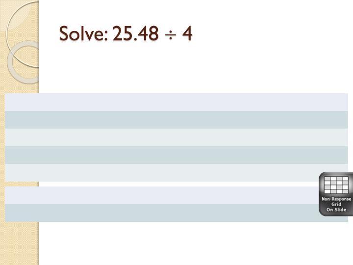 Solve: 25.48