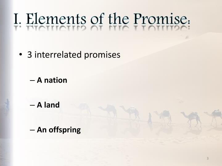 I elements of the promise