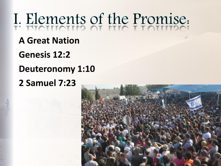 I. Elements of the Promise: